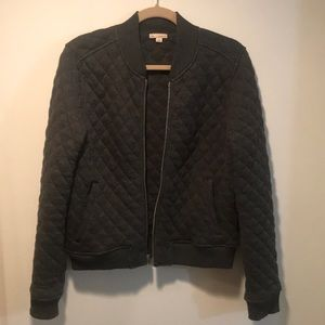 Quilted Gray Zip Up